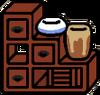 Bureau with pot