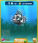 Dark Blue Lionfish