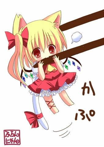 File:Anime chibis that are 5 star worthy touhou chibi chopsticks flandre scarlet by hane mangaka cute nekomimi.jpg