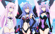 Purple Sister, Iris Heart, & Purple Heart - Hyperdimension Neptunia The Animation