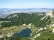 Satorsko j. pogled s Grede prevoja izmedju 2 vrha Satora