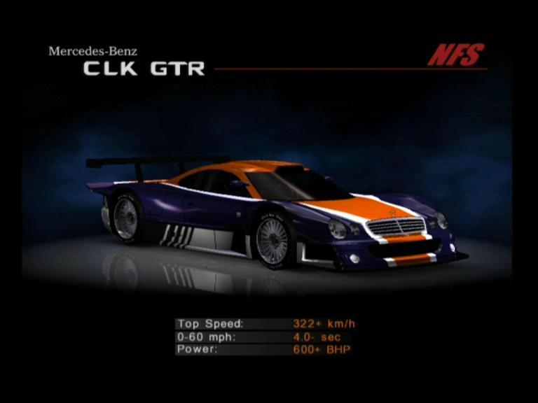 Image nfshp2 car mercedes benz clk gtr need for Mercedes benz car racing games