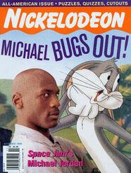 Nickelodeon Magazine cover November 1996 Michael Jordan