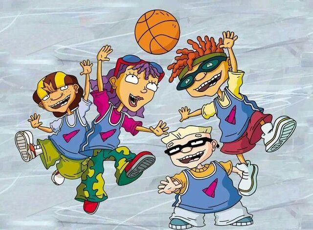File:Rocket Gang Playing Basketball.jpg