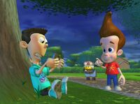 Sheen playing a Game Boy Advance