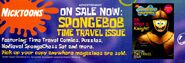 Nick Mag Presents Spongebob Time Travel Oh What a Knight print ad March 2006