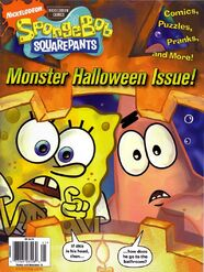 SpongeBob Monster Halloween Issue Nick Mag Presents October 2008