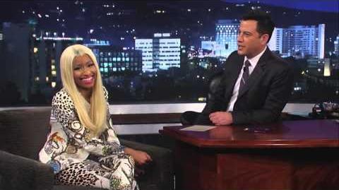 Nicki Minaj on Jimmy Kimmel Live PART 2