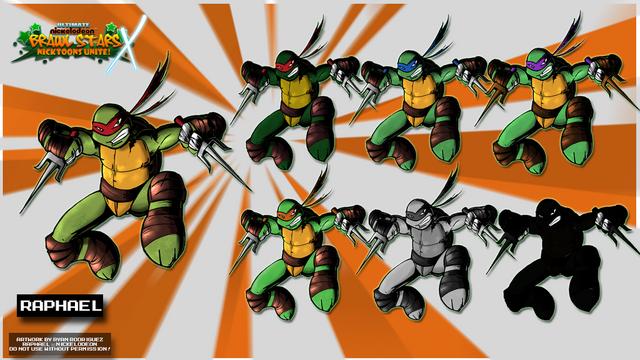 File:Nicktoons raphael palette swaps by neweraoutlaw-d5szakm.png