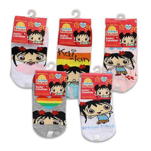 File:6 PAIR NI HAO KAI LAN Kids Girls Socks - Sizes 2-4 4-6 6-8.jpg