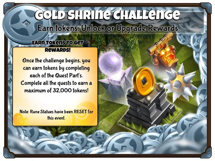 Gold shrine challenge preview