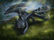 Night fury by Lilian art