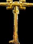 Golden tri-scythe