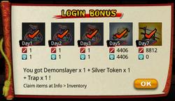 Login 7 day