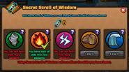 Secret Scroll of Wisdom used