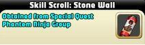 Stone Wall skill scroll