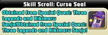 Skill Scroll Curse Seal
