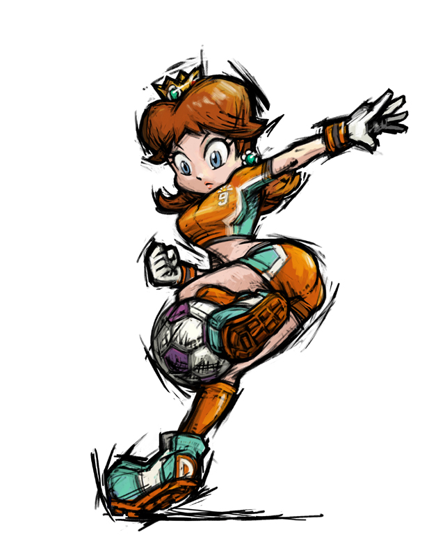 Princess daisy nintendo fandom powered by wikia for Mario strikers coloring pages