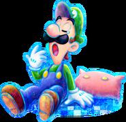 Luigi yawning - Mario & Luigi Dream Team