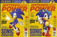 Sonic Generations Nintendo Power cover