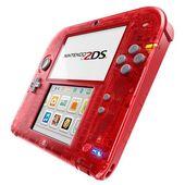 Nintendo 2ds transparent red-121114