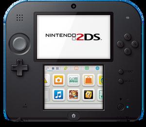 Nintendo 2DS top hardware blue