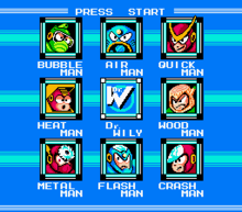 Mega Man 2 Stage Select