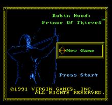 Robin Hood Title Screen