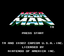 Mega Man Title Screen
