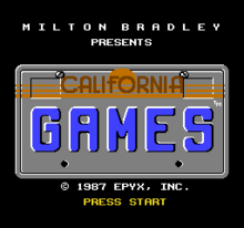 California Games Title Screen