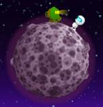 Spacehopper-astronautmeetsgreenmaskedrobot
