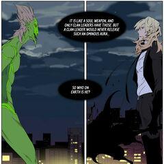 Muar wondering about Frankenstein's identity.