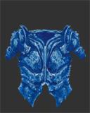 Blue Crystalline Breastplate