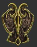 Elaborate Emerald Tapered Targe
