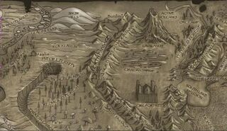 North Dread Mountains-Map
