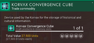 Korvax convergence cube desc