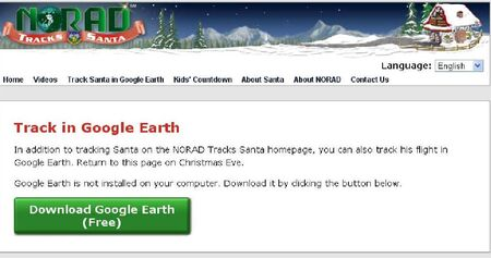 NORAD Tracks Santa - Google Earth - 2010 Before Xmas Eve - GE Download