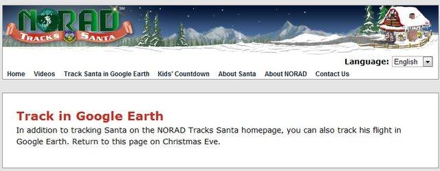 File:NORAD Tracks Santa - Google Earth - 2010 Before Xmas Eve.jpg