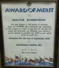 MAJ Robertson - Award of Merit - Naturally Santa – 1998.jpg