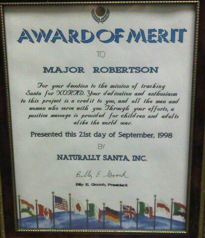 File:MAJ Robertson - Award of Merit - Naturally Santa – 1998.jpg