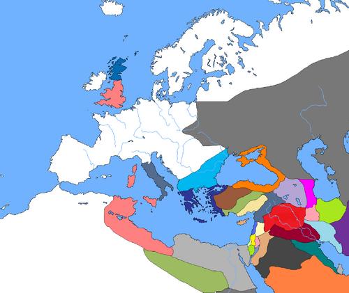 World Map, Year 1 (Beginning of Arachosian Expansions)