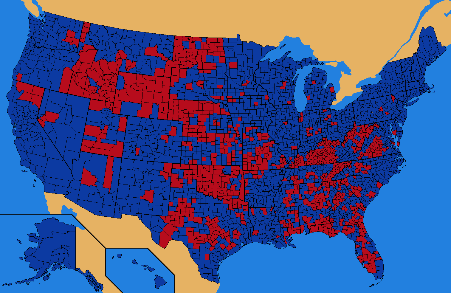 How Possible Is This Map For The Election - Popular vote us map