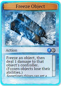 Freeze object