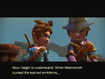 Hero and Father talk after defeat of Oceanhorn
