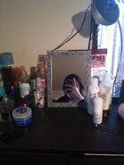 Nyantaro's makeup table