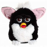 Black White Furby whit brown eyes