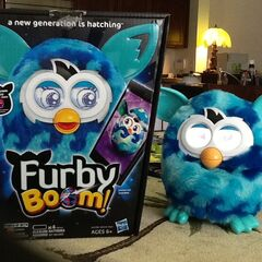Furby BOOM! Blue Waves With Box