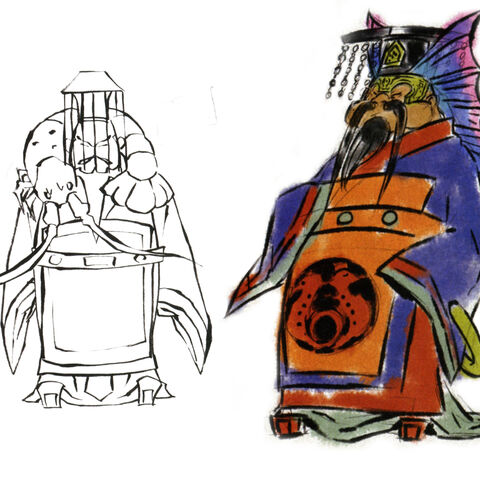 Concept art of King Wada.