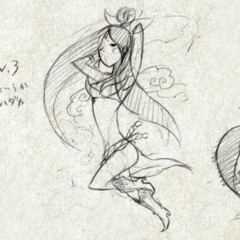 Early design sketches of Sakuya.