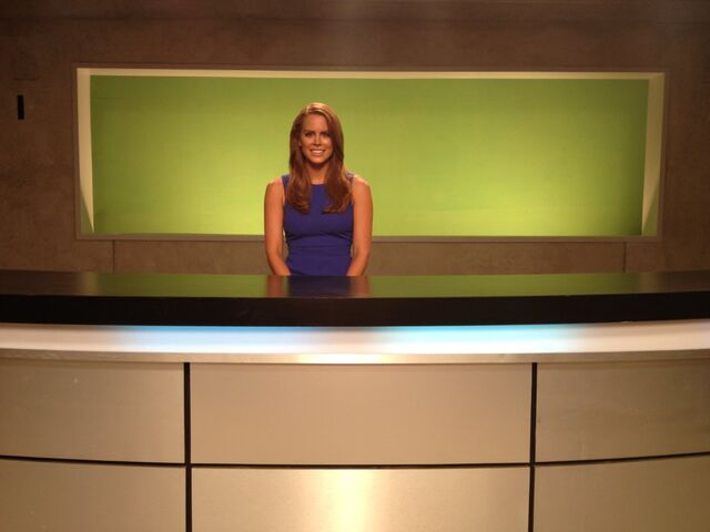 File:OHF- Michelle Celeste on-set filming her role as a reporter.jpg